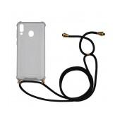 Case Ancus Crossbody for Samsung SM-M205F Galaxy M20 Transparent with Back Strap