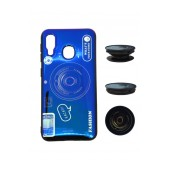 TPU Case Ancus Fashion with Pop Base for Samsung SM-A202F Galaxy A20e Blue