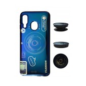 TPU Case Ancus Fashion with Pop Base for Samsung SM-A405F Galaxy A40 Blue