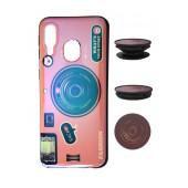 TPU Case Ancus Fashion with Pop Base for Samsung SM-A405F Galaxy A40 Pink