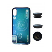 TPU Case Ancus Fashion with Pop Base for Apple iPhone X / XS Blue