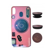 TPU Case Ancus Fashion with Pop Base for Apple iPhone X / XS Pink
