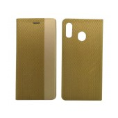 Book Case Ancus Magnetic Canvas for Samsung SM-M205FN Galaxy M20 TPU Gold