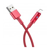 Data Cord Cable Hoco U47 Essence Core USB to Lightning FGast Charging with Smart Power Off and LED indicator 1.2m Red