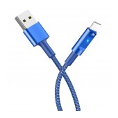 Data Cord Cable Hoco U47 Essence Core USB to Lightning FGast Charging with Smart Power Off and LED indicator 1.2m Blue
