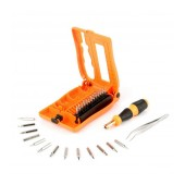 Screwdriver Jakemy JM-8103 28 pcs Set. Star, Philips, Triangle. Magnetic with Ergonomic Box. Includes Tweezer