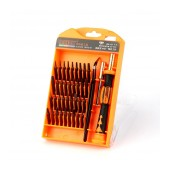 Screwdriver Jakemy JM-8113 39 pcs Set S-2. Star, Philips, Triangle. Magnetic with Ergonomic Box. Includes Extension Bar and Tweezer