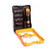 Screwdriver Jakemy JM-8159 34 pcs Set. Star, Philips, Triangle. Magnetic with Ergonomic Box. Includes Extension Bar and Tweezer