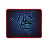 Waterproof Gaming Mousepad Rubber Black - Red (22 x 18 cm)