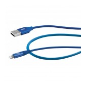 Data Cable ACC+ USB to Lightning MFI 2.4A Fast Charge Blue 1m