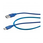 Data Cable ACC+ USB to Type-C 2.4A Fast Charge Blue 1m