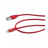 Data Cable ACC+ USB to Micro-USB 2.4A Fast Charge Red 1m