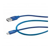 Data Cable ACC+ USB to Micro-USB 2.4A Fast Charge Blue 1m