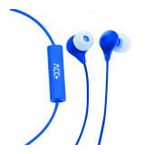 Hands Free ACC+ Soul Stereo Earphones 3.5mm Blue with Micrphone and Answer/Mute Button
