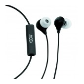 Hands Free ACC+ Soul Stereo Earphones 3.5mm Black with Micrphone and Answer/Mute Button