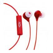 Hands Free ACC+ Soul Stereo Earphones 3.5mm Red with Micrphone and Answer/Mute Button