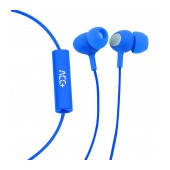 Hands Free ACC+ Soul 2 Stereo Earphones 3.5mm Blue with Micrphone and Answer/Mute Button