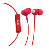 Hands Free ACC+ Soul 2 Stereo Earphones 3.5mm Red with Micrphone and Answer/Mute Button