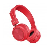 Wireless Stereo Headphone Hoco W25 Promise Red with microphone
