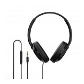 Headphone Stereo Borofone BO1 EnjoyBass Black with microphone and leather earmuffs