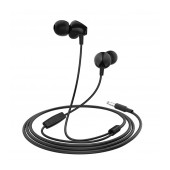 Hands Free Hoco M60 Perfect Sound Earphones Stereo 3.5 mm Black with Micrphone and Operation Control Button