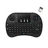 Bluetooth Keyboard Keywin Mini Rii i8+ with Backlit for Smartphone, Tablet, PC, και SmartTV Black