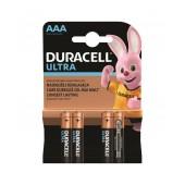 Battery Αlkaline Duracell Ultra LR03 / MX2400 size AAA Pcs. 4