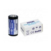 Rechargable Ιndustrial Τype Βattery Xtar 16340 Li-ion 650mAh 3.7V Protected