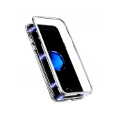 Case Ancus 360 Full Cover Magnetic Metal for Apple iPhone XR Silver