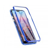 Case Ancus 360 Full Cover Magnetic Metal for Apple iPhone XR Blue
