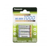 Rechargeable Battery Panasonic Ni-MH 1000 BK-4HGAE/4BE 930 mAh size AAA 1.2V Pcs 4