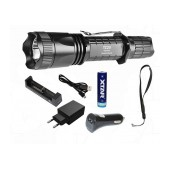 Set Flashlight Xtar TZ20 XM-L2 U2 IPX8 Black 840 Lumens/Distance 200m with Charger and set Case