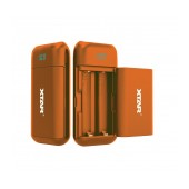 Industrial Type Battery Charger with Powerbank function Xtar PB2 USB, with Power Display for 18650 Orange