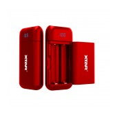 Industrial Type Battery Charger with Powerbank function Xtar PB2 USB, with Power Display for 18650 Red