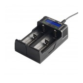 Industrial Type Battery Charger Xtar SV2 USB, 2 Positions Fast Charge 2A with LCD Power Display for Batteries