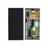 Original LCD with Digitizer & Frame for Samsung N975F Galaxy Note 10 Plus Silver GH82-20838C
