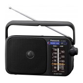 Portable FM Radio Panasonic RF-2400DEG-K 770mW Black Mains and Battery Supply
