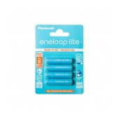 Rechargeable Battery Panasonic eneloop lite BK-4LCCE/4BE 550 mAh size AAA Ni-MH 1.2V Τεμ. 4