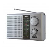 Portable FM Radio N'oveen PR451 1W Silver with Mains and Battery Supply