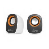Speaker Set Media-Tech MT3137W IBO 3.5mm with 6W USB Power White
