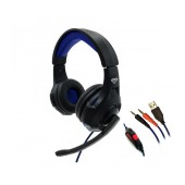 Stereo Headphone Media-Tech COBRA PRO THRILL MT3594 with Microphone, Volume Control and Light Illumination Black