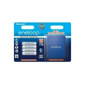 Rechargeable Battery Panasonic Eneloop BK-4MCCEC4BE 750 mAh size AAA Ni-MH 1.2V Τεμ. 4 with storage case