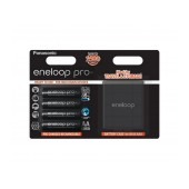 Rechargeable Battery Panasonic eneloop pro BK-3HCDEC4BE 2500 mAh size AA Ni-MH 1.2V Τεμ. 4 with storage case