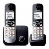 Refurbished (Exhibition) Dect/Gap Panasonic KX-TG6812 Duo Silver - Black with Eco Mode