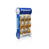Stand Table Panasonic with Alkaline Power Batteries ΑΑ, ΑΑΑ, C, D, 9V with 9 Hooks