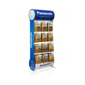 Stand Table Panasonic with Alkaline Power Batteries ΑΑ, ΑΑΑ, C, D, 9V with 12 Hooks