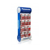 Stand Table Panasonic with Zinc Carbon Batteries ΑΑ, ΑΑΑ, C, D, 9V with 12 Hooks