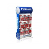 Stand Table Panasonic with Zinc Carbon Batteries ΑΑ, ΑΑΑ, C, D, 9V with 9 Hooks