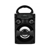 Compact Bluetooth speaker BOOMBOX LT , FM radio, MP3 player, possibility to connect microphone, powered with removable lithium battery, sockets AUX, USB, microSD sokets, music power 300W PMPO.