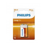 Battery Philips LongLife 6F22 Size 9V Pc. 1